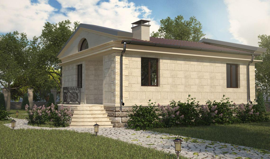 Дом в Московской области общей площадью 250 кв.м (профиль)