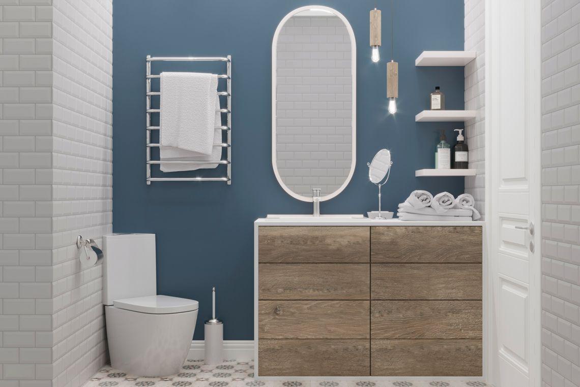 Ванная комната, умывальник и унитаз